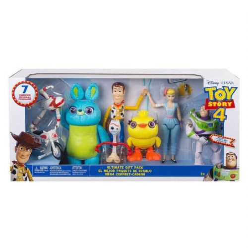 Disney Toy Story 4 Ultimate Gift Pack with 7 Figures - Woody, Buzz, Bunny, Ducky